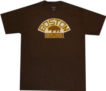 Boston bruins reebok vintage throwback brown shirt for Boston bruins vintage shirt