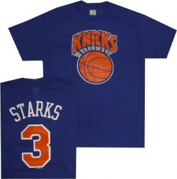 8b83a14ea8c New York Knicks John Starks Throwback Majestic T Shirt | StadiumStyle.com