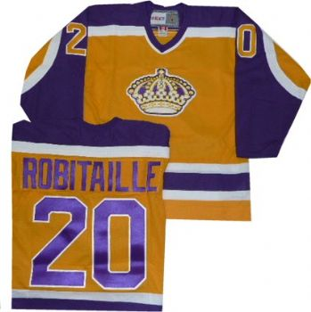 best website 4a7d0 9d206 Los Angeles Kings Luc Robitaille Throwback Yellow Jersey ...