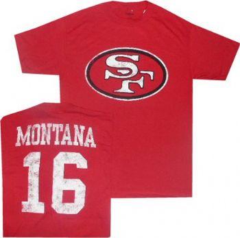 innovative design 90767 37e0a San Francisco Joe Montana Reebok Throwback Distressed T ...