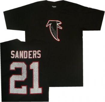 e2d219e920bd3 Atlanta Falcons Deion Sanders Reebok Throwback Shirt | StadiumStyle.com