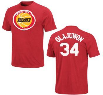 f6a76172ce5 Hakeem Olajuwon Shirt Houston Rockets Majestic | StadiumStyle.com