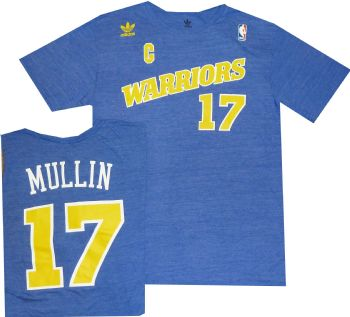 be0dcb2bf6f Golden State Warriors Chris Mullin Tri Blend Blue Shirt | StadiumStyle.com