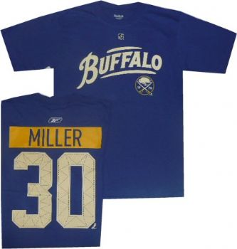 buy online 30f0a d8236 Buffalo Sabres Ryan Miller Alternate Royal Blue T Shirt ...