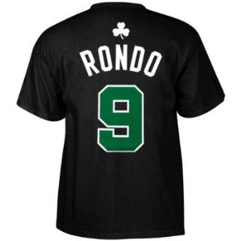 sneakers for cheap ceee7 f57a4 Boston Celtics Rajon Rondo Adidas Black T Shirt ...
