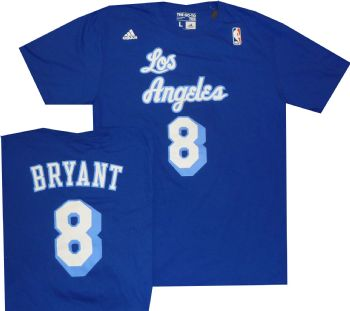 574c7e6cadd Lakers Kobe Bryant Throwback shirt Adidas Blue Adidas