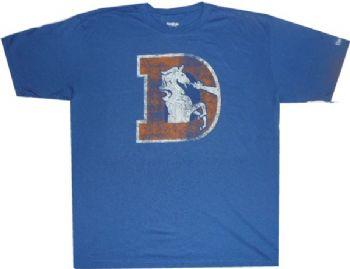 6a3673c8 Denver Broncos Reebok Throwback Vintage Pro Fit T Shirt ...