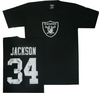 size 40 91972 788a7 Oakland Raiders Bo Jackson Throwback Distressed Reebok T ...