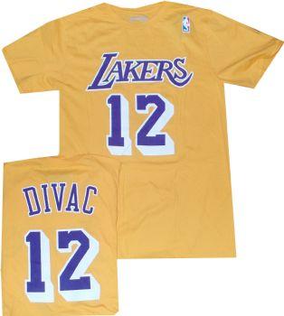 6f6f75b00 Los Angeles Lakers Vlade Divac Throwback Adidas T Shirt ...
