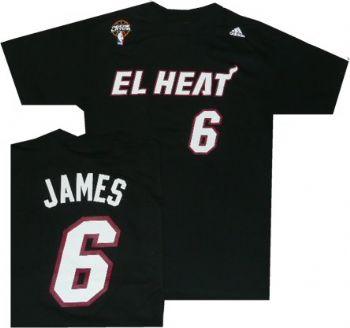 best website 09ca3 1ae80 Miami El Heat Lebron James Latin Nights Adidas T Shirt ...