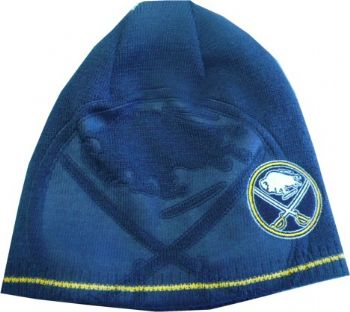 ffcc0f8e9a693 Buffalo Sabres Reversible Reebok Center Ice Knit Beanie Hat ...