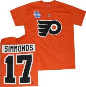 8a8836263 Philadelphia Flyers Wayne Simmonds Winter Classic T Shirt | StadiumStyle.com