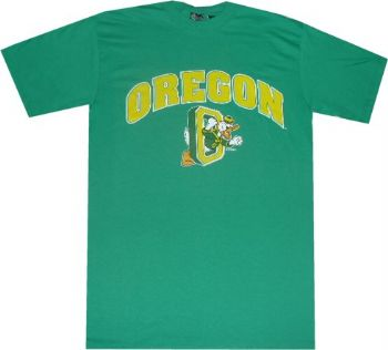 timeless design 45406 2d94b Oregon Ducks Throwback Vintage Kelly Green Arch Shirt by ...