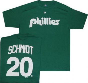 sale retailer 62d60 25d6c Philadelphia Phillies Mike Schmidt Throwback St. Patricks ...