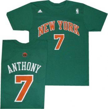 cheaper e46bf 746f5 New York Knicks Carmelo Anthony St Patrick's Green Adidas T ...