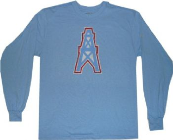 Houston Oilers Throwback Reebok Longsleeve Logo T Shirt ... de03de2fa