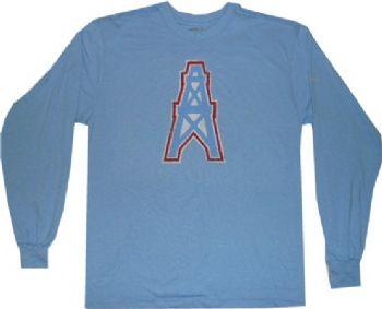 Houston Oilers Throwback Reebok Longsleeve Logo T Shirt ... a34ac0e3e