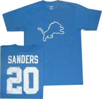 14214019df90f Detroit Lions Barry Sanders Vintage Reebok Distressed T Shirt ...