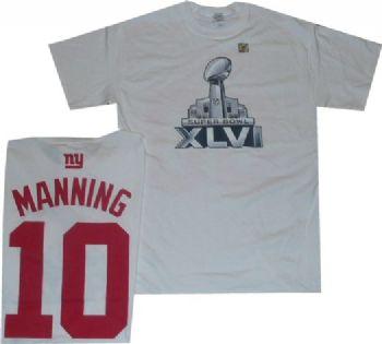 brand new 3bbe4 a27b5 New York Giants Eli Manning Super Bowl 46 Reebok Gildan T ...