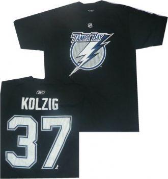 Tampa bay lightning olaf kolzig reebok high denisty t for Tampa t shirt printing