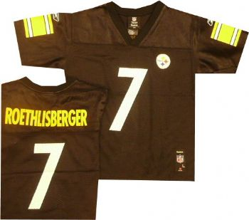7787bec2317 Pittsburgh Steelers Ben Roethlisberger NFL Jersey Kids 4-7 |  StadiumStyle.com