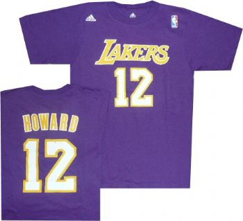 Los Angeles Lakers Dwight Howard Adidas Purple T Shirt
