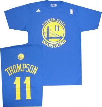 online store cb471 30e46 Golden State Warriors Klay Thompson Adidas Royal Blue T ...