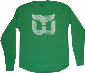 Hartford whalers slim fit green thermal longsleeve t shirt for T shirt printing hartford ct