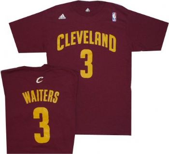 8b856a4a3 Cleveland Cavaliers Dion Waiters Burgundy Adidas T Shirt ...