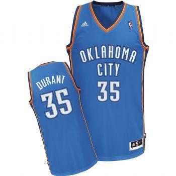 0bcc807c206 Oklahoma City Thunder Kevin Durant Revolution 30 Swingman Blue Jersey