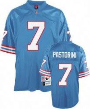 86ff9f509 Houston Oilers Dan Pastorini Blue Premier Throwback Jersey |  StadiumStyle.com