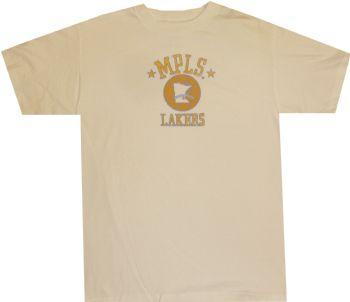 563d0691496a Los Angeles Minneapolis Lakers Vintage Logo Adidas White T Shirt ...