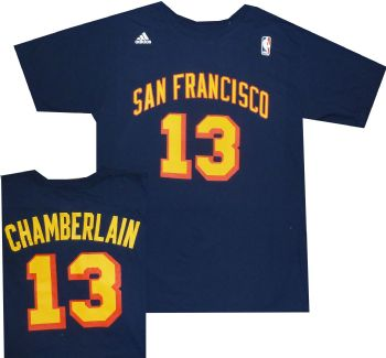 ad1c9550bb1 San Francisco Warriors Wilt Chamberlain Adidas Throwback Shirt ...