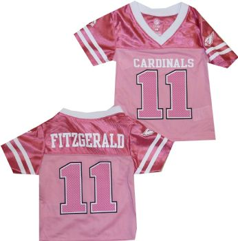 e5cfe2d71654 Arizona Cardinals Larry Fitzgerald Infant NFL Girls Pink Jersey ...