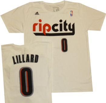 a6cb27d528c Portland Trailblazers Damian Lillard Adidas Rip City T Shirt ...