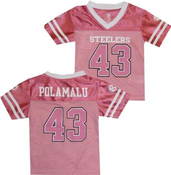 Troy Polamalu Pittsburgh Steelers Toddler Infant Pink Girls Jersey ... 0099f00ea