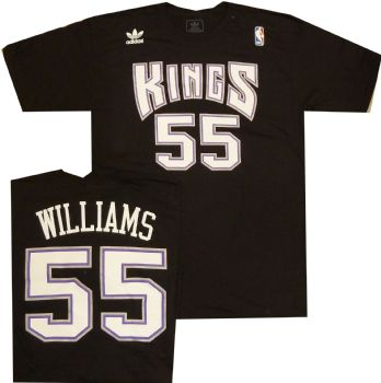 finest selection 3370c 73a47 Sacramento Kings Jason Williams Adidas Throwback Vintage T ...