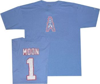 1d75683c Houston Oilers Warren Moon Reebok Throwback Pro Style T Shirt |  StadiumStyle.com
