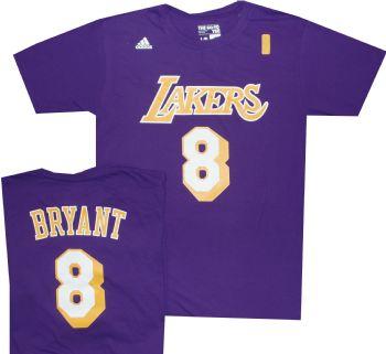 Kobe Bryant Los Angeles Lakers shirtThrowback Purple  8 Adidas T Shirt  f8816c2b7