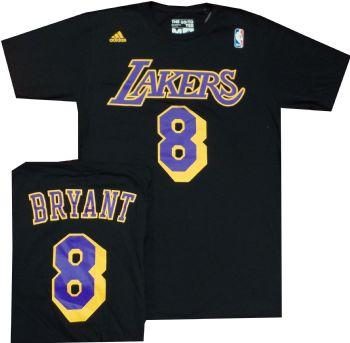 Kobe Bryant black shirt Adidas Black  8 T Shirt  18903c232