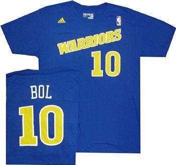 db3391e2270d Golden State Warriors Manute Bol Throwback Royal Blue T Shirt ...