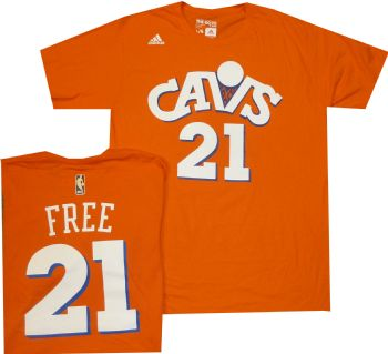 1d1a0bf9b Cleveland Cavaliers World B Free Adidas Orange Throwback T Shirt |  StadiumStyle.com