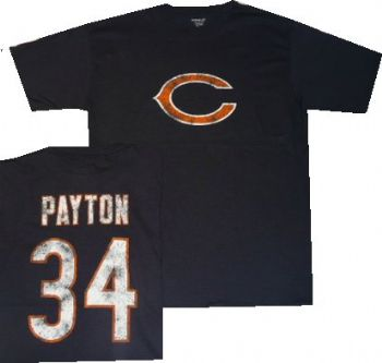 on sale 0846f da0e5 Chicago Bears Walter Payton Reebok Throwback Distressed Navy ...