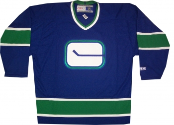 sports shoes 4e858 9cd3d Vancouver Canucks Throwback Vintage 1972 CCM Blue Jersey ...