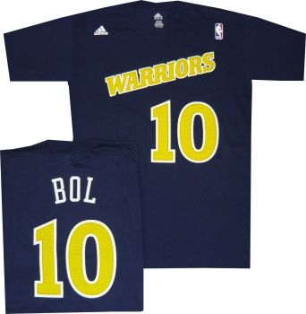 Golden State Warriors Manute Bol Throwback T Shirt Jersey by Adidas ... be5eb2a01