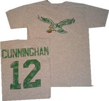 86d0420f Philadelphia Eagles Randall Cunningham Reebok Throwback Distressed ...