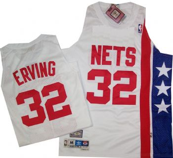 super popular 58064 586bc New York Nets Julius Erving Throwback Swingman Jersey ...