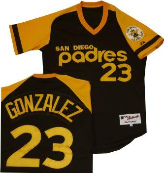 separation shoes 8d88c 555a7 San Diego Padres Adrian Gonzalez Authentic Throwback Jersey ...