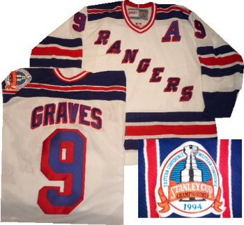 sports shoes b5b4c 16315 New York Rangers Adam Graves Vintage White Vintage Jersey ...
