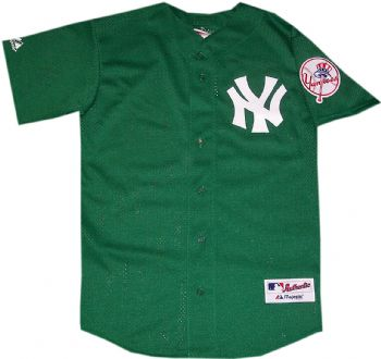New York Yankees St Patricks Day Authentic Collection Jersey ... 75877de2923